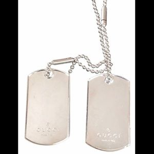 ♣️ AUTHENTIC GUCCI DOG TAGS NECKLACE ♠️